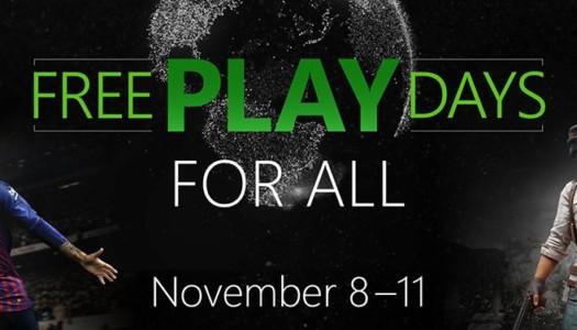 Vuelven los Días de juego gratis a Xbox One