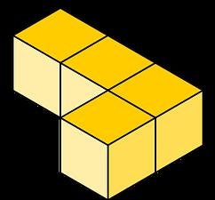 Tetris pieza tetromino 1