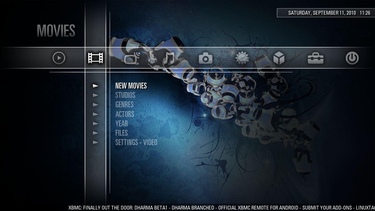 Menu Cross Media Bar XMB