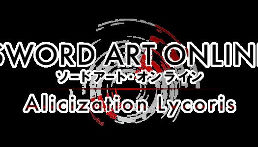 Sword Art Online Alicization Lycoris ya está disponible