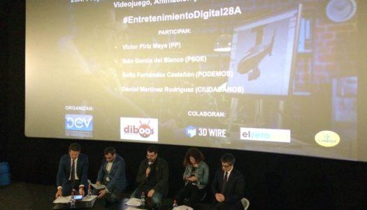 Debate electoral sobre Entretenimiento Digital en España