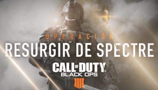 Call of Duty: Black Ops 4 inaugura Operación Resurgir de Spectre