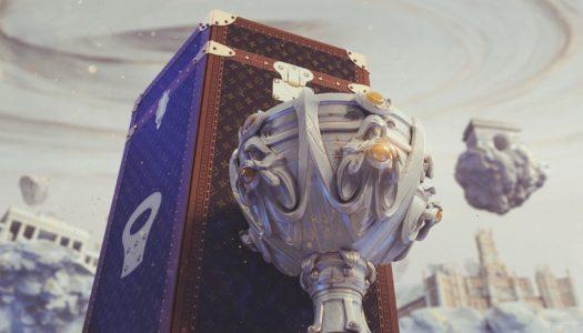 League of Legends viste de Louis Vuitton junto a su copa