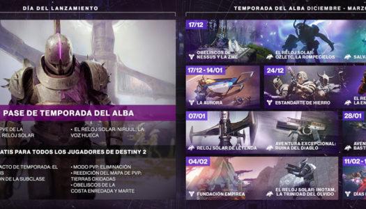 La Temporada del Alba de Destiny 2 ya está disponible