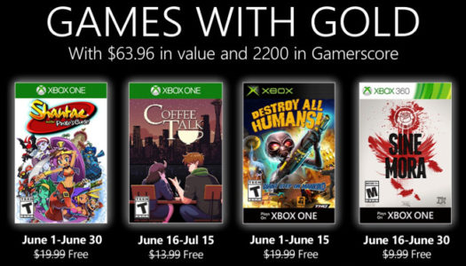 Microsoft anuncia los Games with Gold del mes de junio