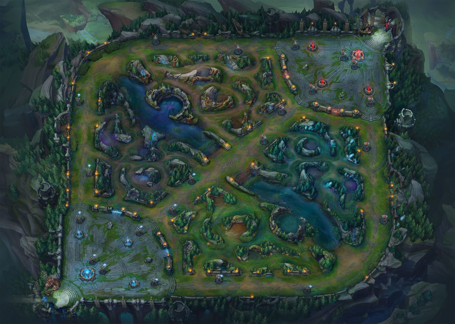 Mapa de League of Legends.