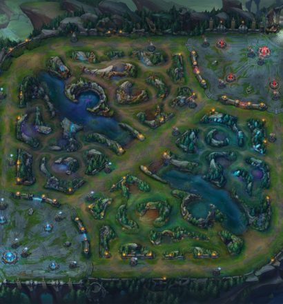 Mapa de League of Legends.