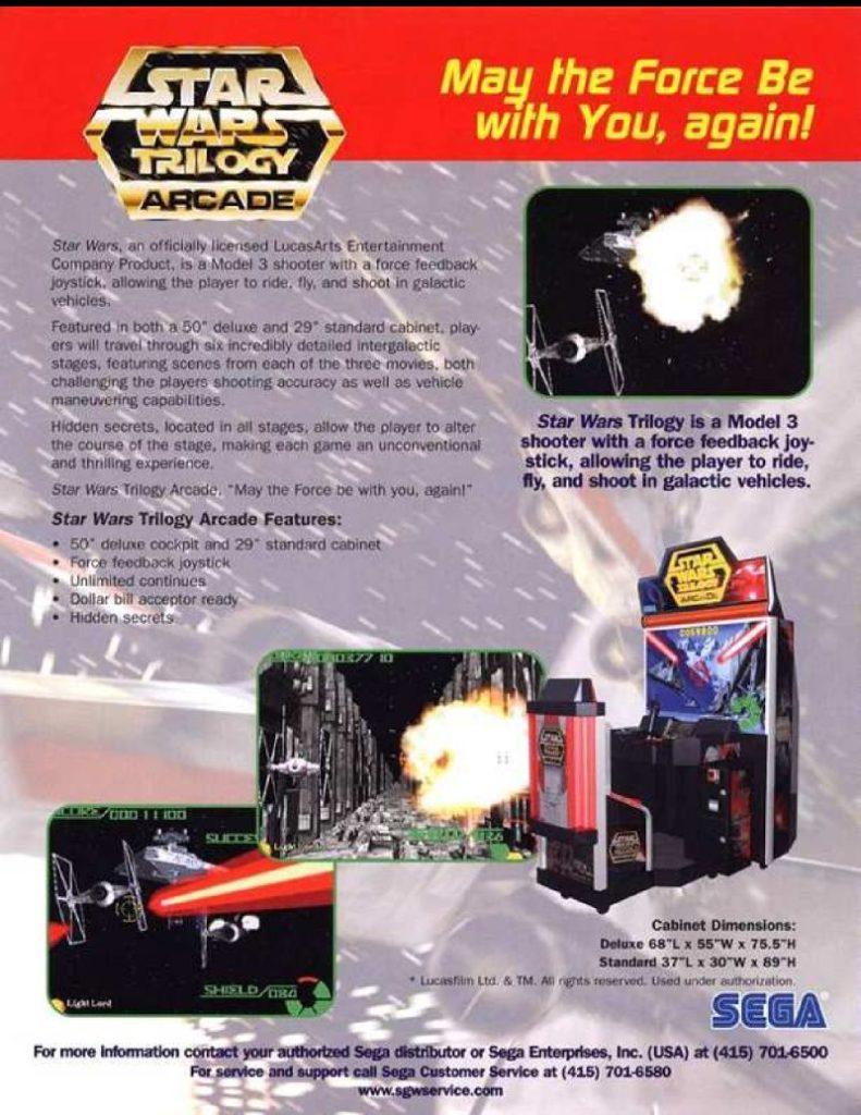 Star Was Trilogy Arcade Flyer