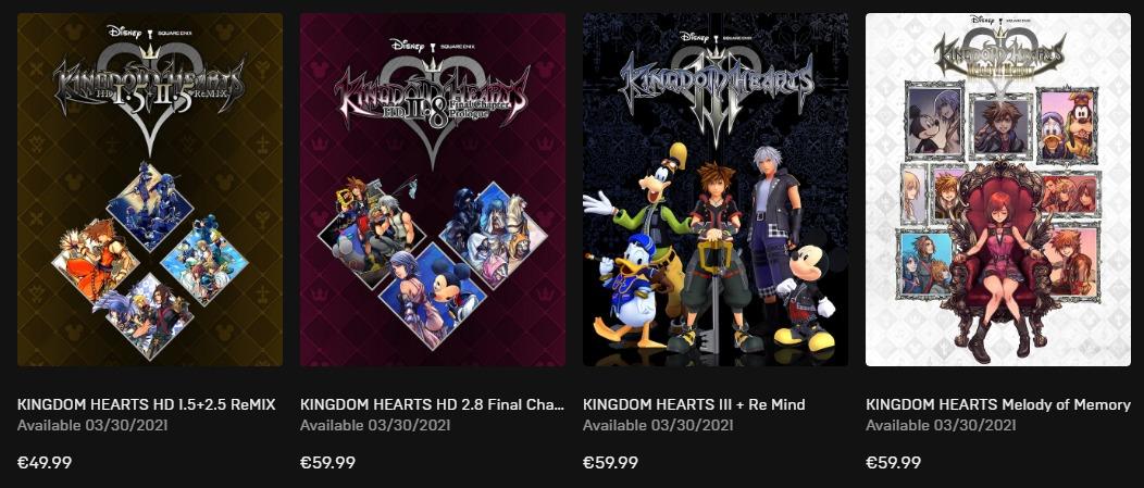 Kingdom Hearts precios