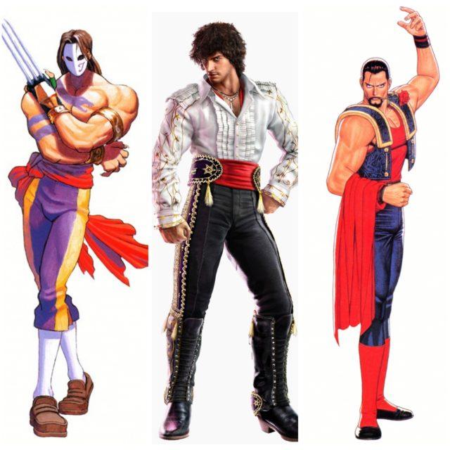De izquierda a derecha: Vega, Miguel Caballero Rojo y Laurence Blood.