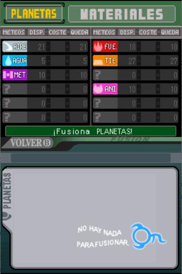 Meteos fusión